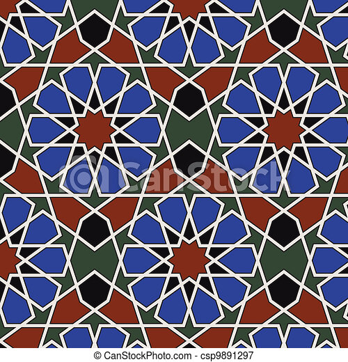 Arabesque seamless pattern - csp9891297
