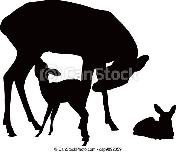 Deer family - csp9892059