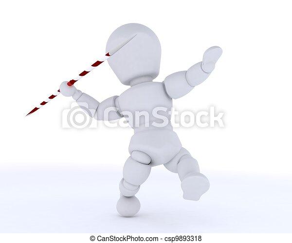 man throwing the javelin - csp9893318