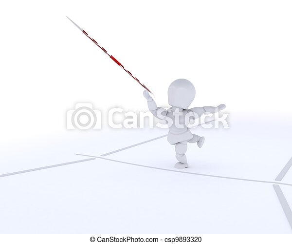 man throwing the javelin - csp9893320