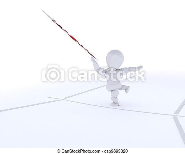 man throwing the javelin - csp9893320