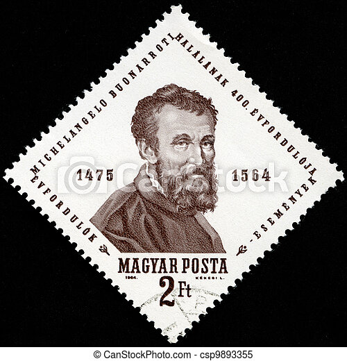 HUNGARY - 1964: shows Michelangelo, Michelangelo's 400th death - csp9893355