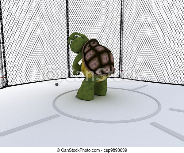 tortoise competing in hammer throw - csp9893639