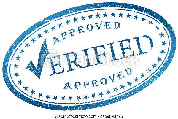 Verified stamp - csp9893775