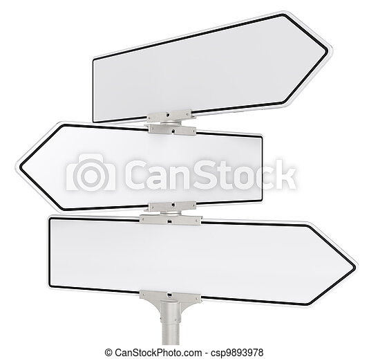 Road signs X 3. - csp9893978