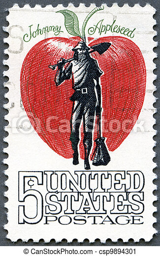 USA - 1966: shows Johnny Appleseed, (John Chapman, 1774-1845) - csp9894301