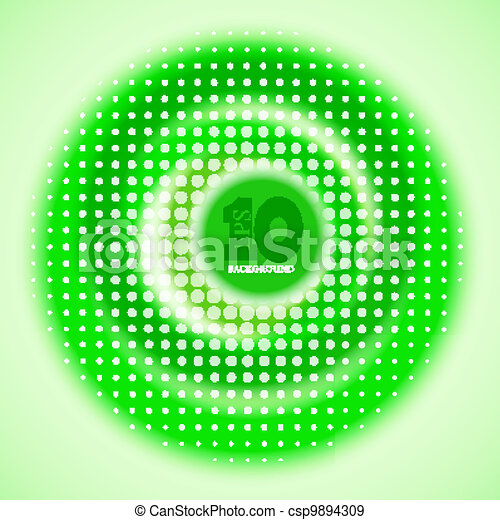 Vector creative circle green background. Eps10 - csp9894309