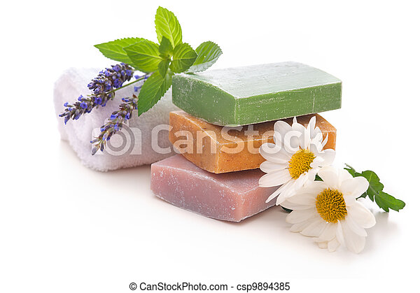 handmade soap bars - csp9894385