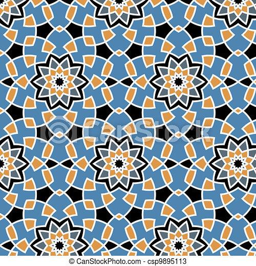 Arabesque seamless pattern - csp9895113