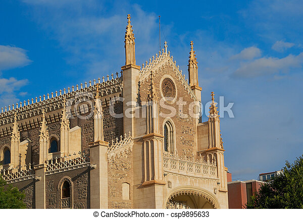 Historic buildings Cathedral, church of Madrid - csp9895633