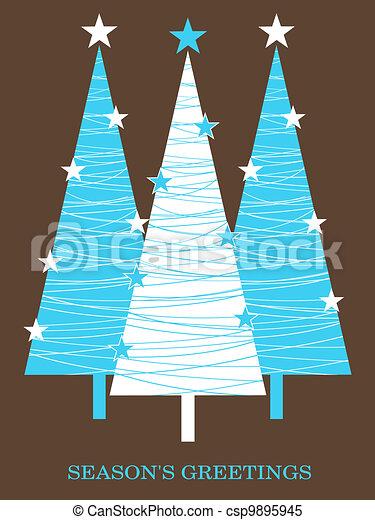 Christmas Card Design - csp9895945