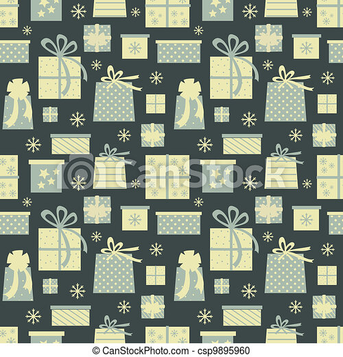 Christmas Presents Background - csp9895960