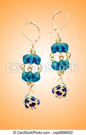 Jewellery concept with nice earrings - csp9896602