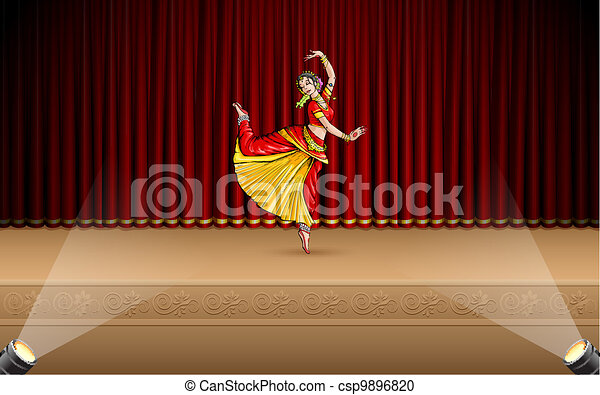 Indian Classical Dancer - csp9896820