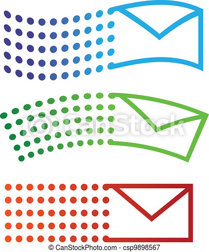 Email flying icons - csp9898567