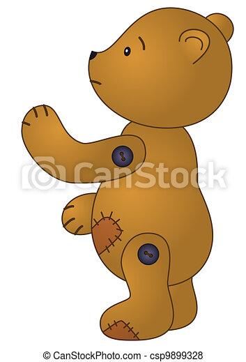 Sad teddy bear - csp9899328