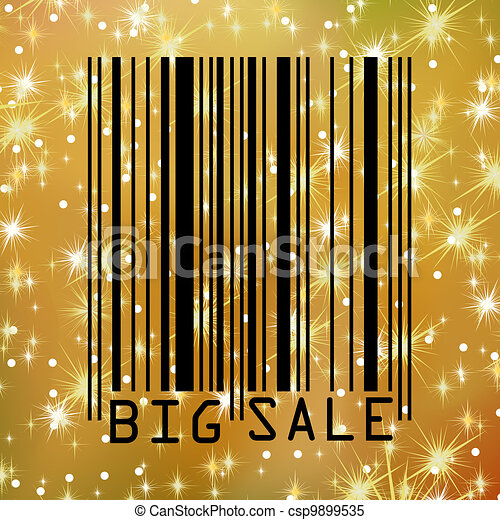 Big Sale gold bar codes. EPS 8 - csp9899535