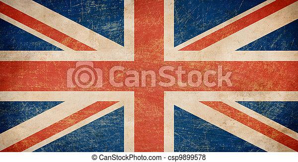 Grunge British flag - csp9899578