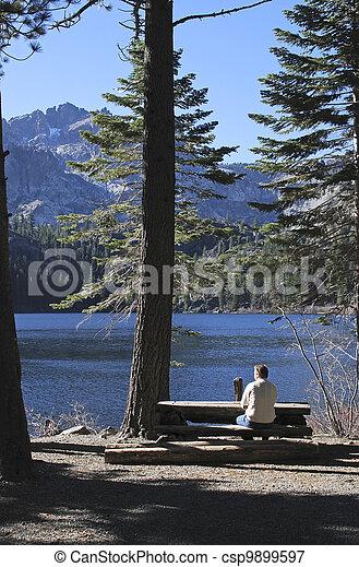 Lakeside picknic place - csp9899597