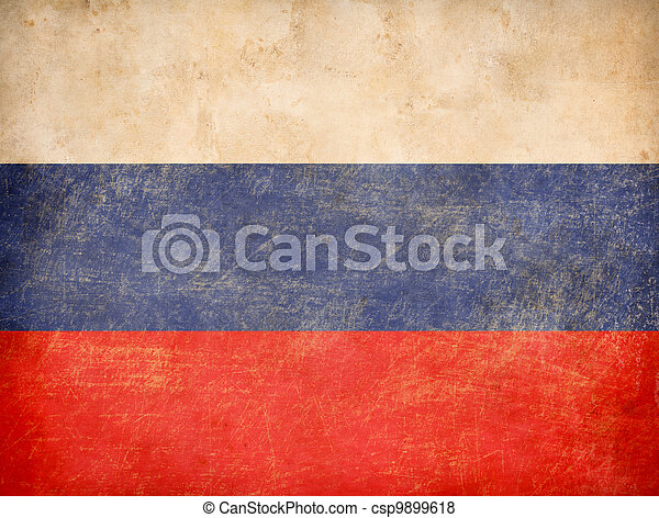 old Russian tricolour flag - csp9899618