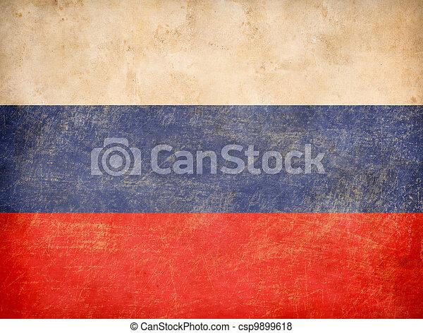 old Russian tricolour flag - csp9899618