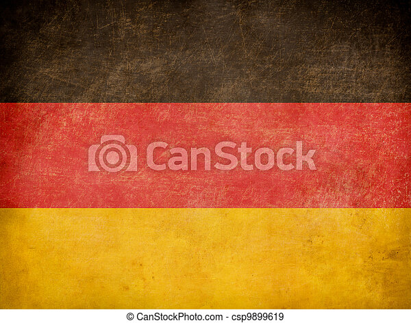 Grunge German flag - csp9899619