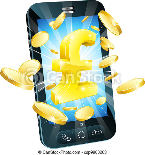 Pound money phone concept - csp9900263