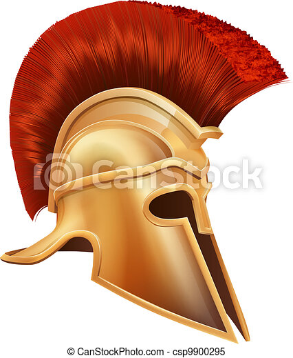 Ancient Greek Warrior Helmet - csp9900295