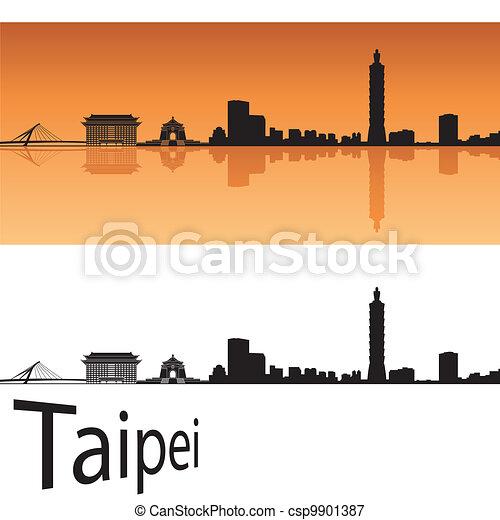Taipei skyline - csp9901387