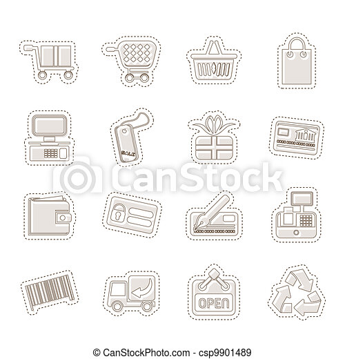 Simple Online Shop icons - csp9901489