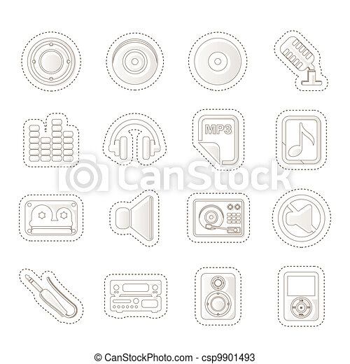 Music and sound Icons - csp9901493