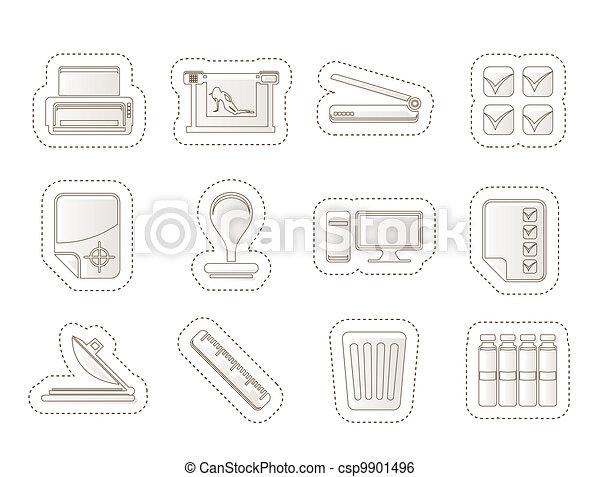 Print industry Icons - csp9901496