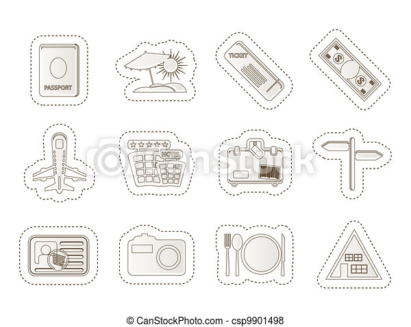Simple Travel and trip Icons - csp9901498