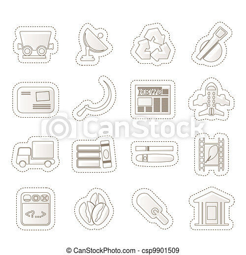 Business and industry icons - csp9901509