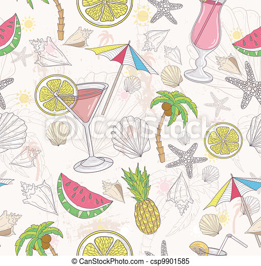 Cute summer abstract pattern. - csp9901585