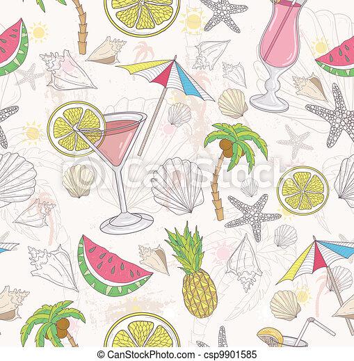 Cute summer abstract pattern. - csp9901585