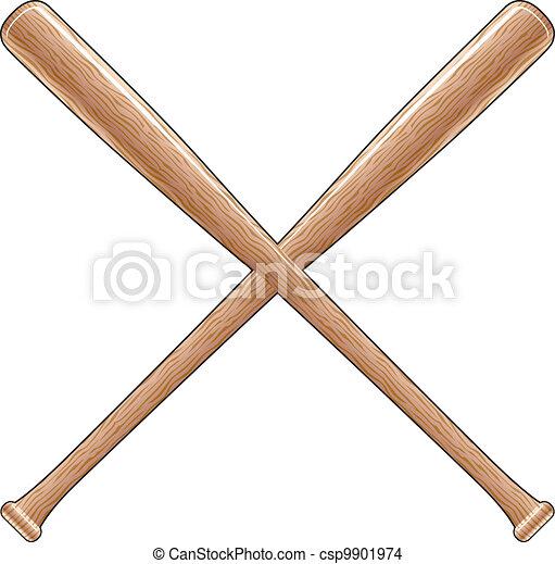 Wooden Baseball Bats Drawings Baseball Bats Csp9901974
