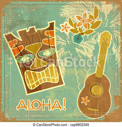 Vintage Hawaiian card - csp9902349