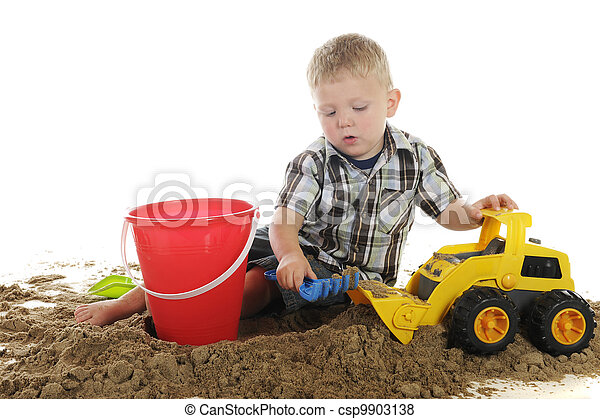 Busy with Sand and Toys - csp9903138