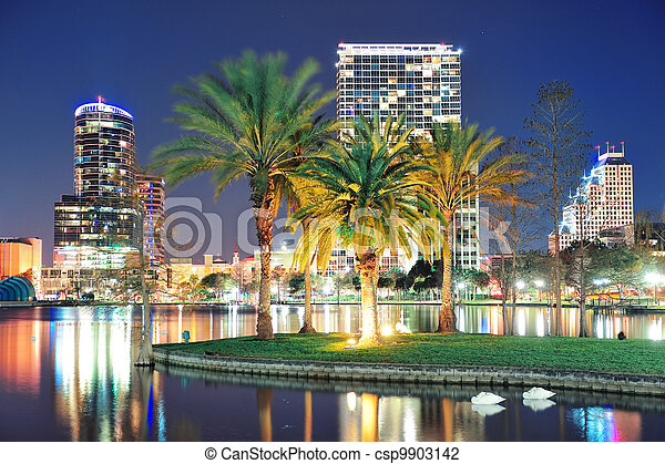 Orlando night scene - csp9903142