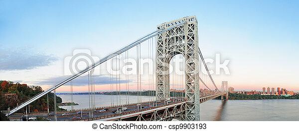 George Washington Bridge panorama - csp9903193