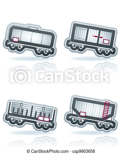 Industry Icons: Railroad transportation - csp9903658
