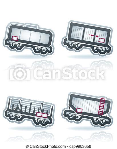 Industry Icons: Railroad transportation - csp9903658