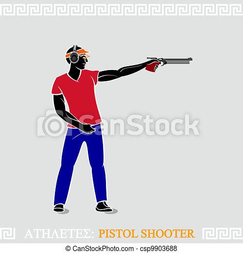 Athlete Pistol Shooter - csp9903688