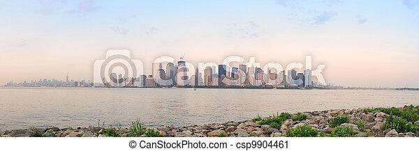 New York City river shore - csp9904461