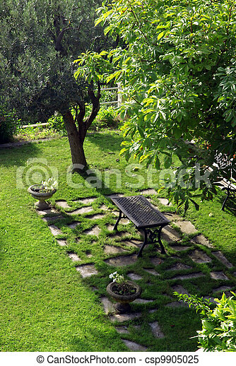 Peaceful garden - csp9905025