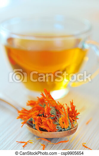 marigold herbal tea - csp9905654