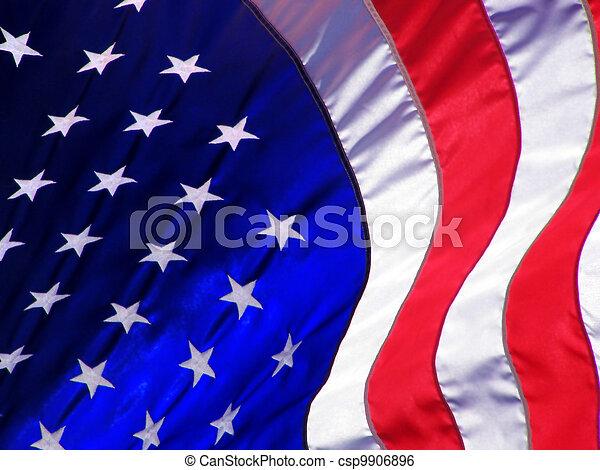 American Flag Wave - csp9906896