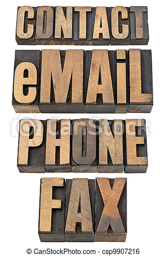 contact, email, phone, fax word set - csp9907216