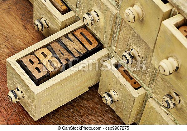 brand word concept - csp9907275